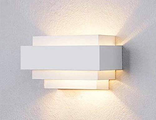 SISVIV 6W LED Applique da Parete Interno Moderno Lampada da Parete Muro  Design per Camera da Letto Soggiorno Corridoio Cucina Scale Bianco Caldo
