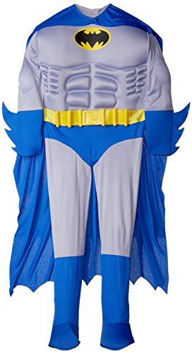 Rubie's Dc Heroes and Villains Collection Deluxe Muscle Chest Batman, Multicolored, Medium (Batman Villains Fancy Dress Costumes)
