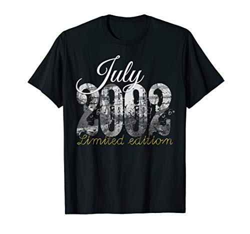 July 2002 Tee - 17 Year Old Shirt 2002 17th Birthday Gift T-Shirt