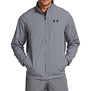 Under Armour Men's Vital Warm-Up Jacket, Steel /Black, X-Large