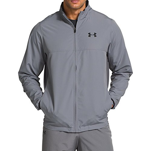Under Armour Men's Vital Warm-Up Jacket, Steel /Black, Small (Up Jacket Warm Male)