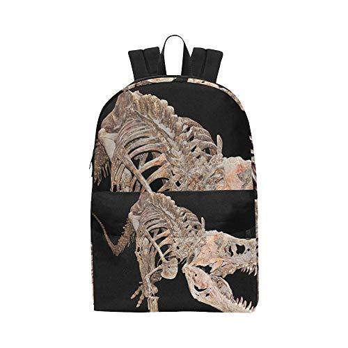 Huge Dinosaur Skeleton Classic Cute Waterproof Daypack Bags School College Campus Backpacks Rucksacks Bookbag For Kids Women And Men Travel With Zipper And Inner Pocket