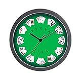 CafePress - Poker Time felt green wall clock - Unique Decorative 10'' Wall Clock