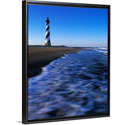 Cape Hatteras Lighthouse Canvas - Panoramic Images Floating Frame Premium Canvas with Black Frame Wall Art Print Entitled Cape Hatteras Lighthouse on The Coast, Hatteras Island, Outer Banks, North Carolina 12
