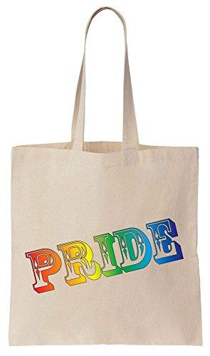 LGBT PRIDE Colored Rainbow Letters Sacchetto di cotone tela di canapa