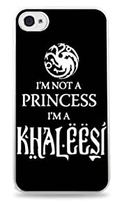 487 Black and White I'm Not A Princess I'm A Khaleesi Game of Thrones- White Silicone Case for iPhone 5 / 5S by Maris's Diary