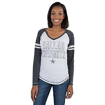 388eb86a Dallas Cowboys Women's Mislap Long Sleeve Burnout V-neck T-shirt X-Small