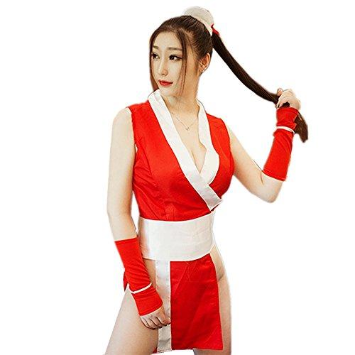 64d543b7b TOMORI Womens Anime Lingerie Outfit Mai Shiranui Kinomo Cosplay Costumes  Japanese Underwear for Sex