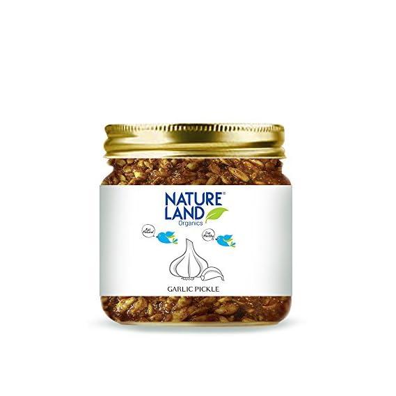 Natureland Organics Garlic Pickle PET Bottle, 350 g