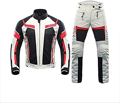 HXA Traje de Motociclista Impermeable de 2 Piezas para ...