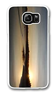 Galaxy S6 Case, S6 Case,West Coast Just Like Glass Shock Absorption Bumper Case Protective Slim Fit Hard PC Cover for Samsung Galaxy S6 White
