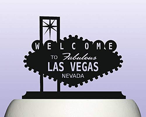 Cartel acrílico de Las Vegas con texto en inglés