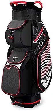 Golf Cart Bag Cart, Golf Tour Cart Bag with 14 Way Dividers Top
