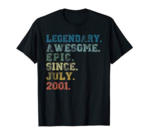 Legendary Awesome Epic Since July 2001 18 Years