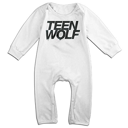 Kamici Baby Teen Wolf Long Sleeve Climb Clothes Romper White 24 Months (Doc Mcstuffins Cast Costumes)