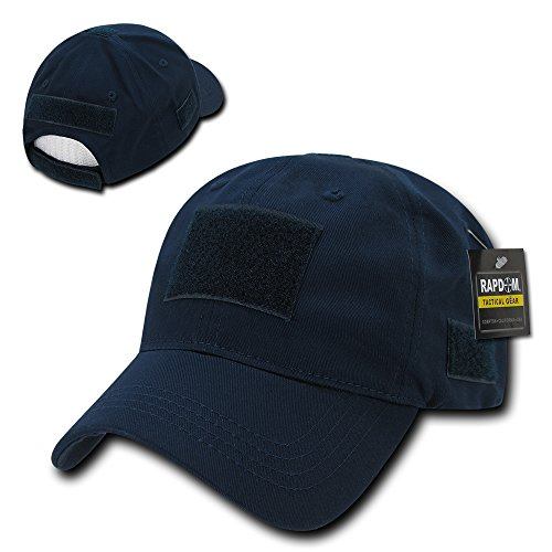 (Rapid Dominance Soft Crown Tactical Operator Cotton Cap With Loop Patch - Navy)