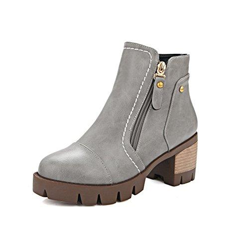 Girls Business Platform Boots Imitated Gold AdeeSu Heels Leather Kitten wSvdnIqU