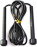 Black Plastic Handle Speed Skipping Jump Rope Boxing Exercise Jumping