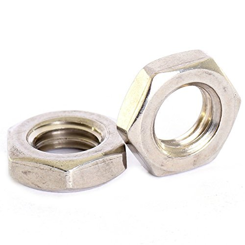 Bolt Base 12mm A2 Stainless Steel Fine Pitch Hexagon Half Lock Nuts Hex Thin Nut DIN 439 M12 X 1.25mm - 10 by Bolt Base (Image #1)
