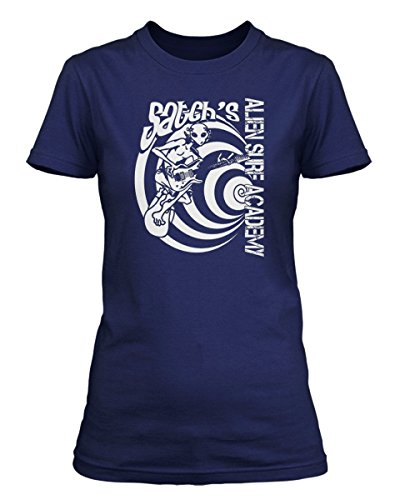 Joe Satriani Satchs Alien Surf Academy Inspired, Women's T-Shirt, XX Large, Metro - Satch Blue