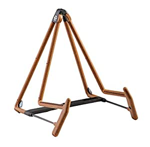 k m stands 17580c heli 2 acoustic guitar stand cork musical instruments. Black Bedroom Furniture Sets. Home Design Ideas