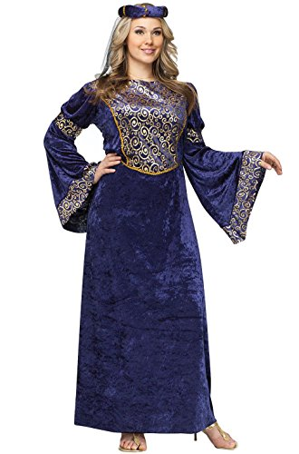 [Mememall Fashion Royal Renaissance Maiden Beauty Plus Size Costume] (Madonna Costume Plus Size)