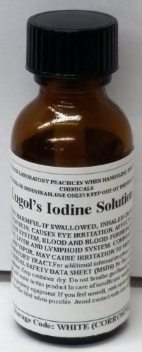 Lugols Iodine Staining Solution 30ml (1oz) Bottle