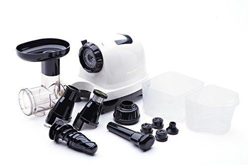 Hurom GD-WWC04 Slow Juicer GD Serie, Multifunktions-Entsafter 70-80 U/min, weiß