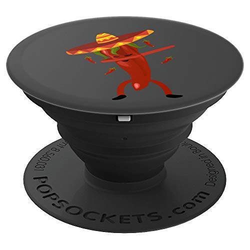 - Dabbing Chili Pepper Art | Cute Dancing Red Chili art Gift - PopSockets Grip and Stand for Phones and Tablets