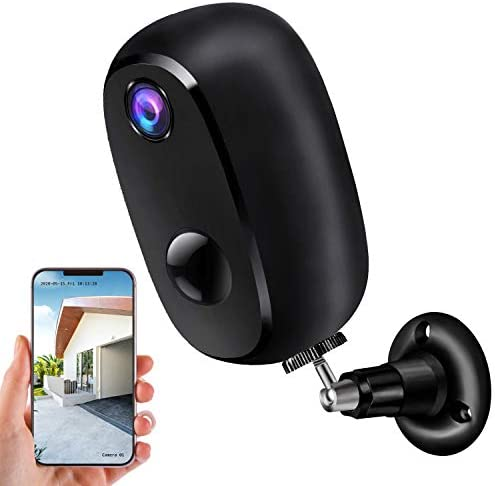 Security Camera Outdoor Wireless, Surveillance Rechargeable Battery-Powered WiFi 1080P Camera 10000mAh, PIR Motion Detection, 2Way Audio, Night Vision (Single)