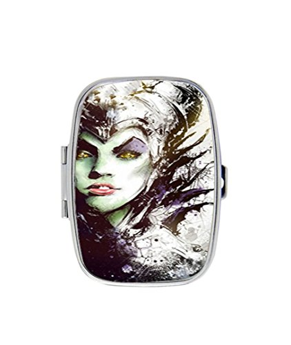 Maleficent Maleficent Custom Diy Image Personalized pill box Stainless Steel Medicine Tablet Holder Decorative Metal - Diy Maleficent