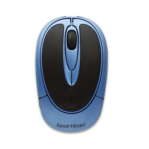 3 Button Wireless Optical Wheel Mouse (Blue) (USB) 30%OFF
