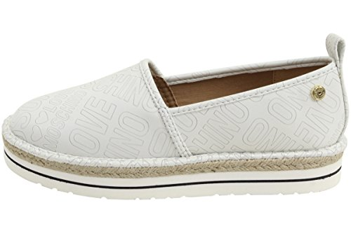 Love Moschino Espadrille Slip On Womens Shoes White by Love Moschino (Image #1)'