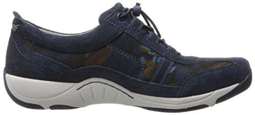 Dansko Womens Helen Fashion Sneaker Blue Print Suede