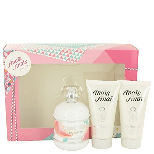 Anais Anais L'Original by Cacharel Gift Set -- 3.4 oz Eau De Toilette Spray + 2 - 1.7 oz Body Lotion for Women