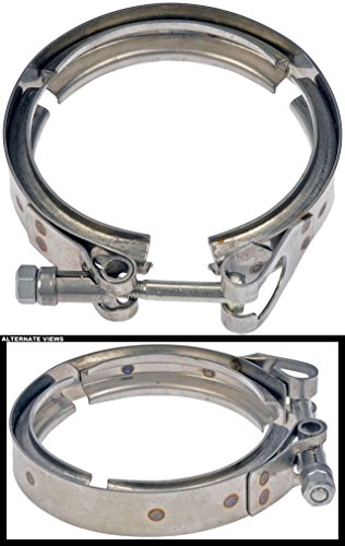 APDTY 118781 Exhaust Turbo Down Pipe V-Band Vband Clamp Fits Down Pipe On 1994-1997 Ford 7.3L Diesel Engine (3.84 Inch Inner Diameter; Replaces Ford F5TZ-5A281-A, F5TZ5A281A)