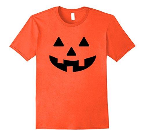 Jack O Lantern Costumes Tshirt (Mens Halloween Pumpkin Costume T Shirt - Orange Jack O Lantern Large Orange)