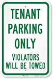 SmartSign 'Tenant Parking Only - Violators Towed' Sign | 12' x 18' 3M Engineer Grade Reflective Aluminum