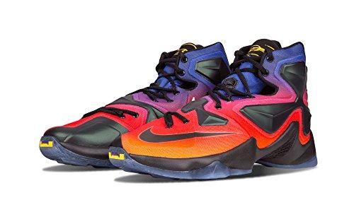 Nike Lebron 13 Db Laser Orange / Noir-crt Violet