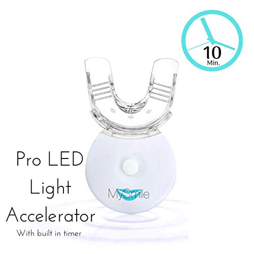 MySmile Teeth Whitening Accelerator Light - Faster Whiten Treatment to 10 Mins - Smart Timer Integrated - Long Lasting Batteries - 5 LED