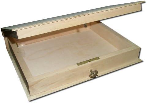 Plain nuevo de madera con cerradura caja/estantería para libros ...