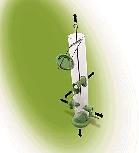 Schwegler Naturschutzprodukt Futters/äule Ring-Pull Pro midi gr/ün Metall Vogelprodukt H 37,5 cm Inhalt 1,0l