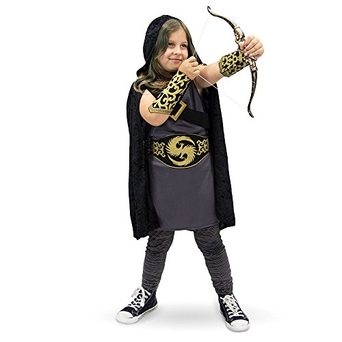 Girls Katniss Costumes (Ace Archer Children's Halloween Dress Up Theme Party Roleplay & Cosplay Costume, Unisex (S, M, L, XL) by Boo! Inc. (Youth X-Large (10-12)))