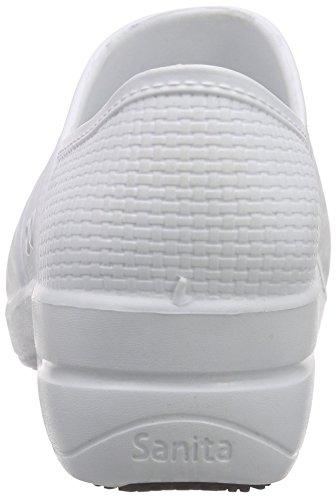 Sanita Aero-Motion, Zuecos para Mujer Blanco - Weiß (White 1)