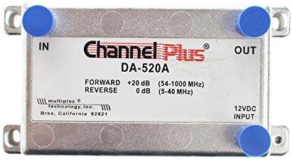 Channel Plus DA-520A 20 dB Bidirectional Cable Amplifier