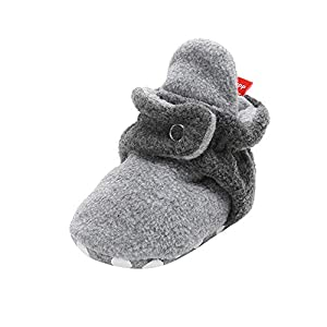 H.eternal Newborn Baby Fleece Cozy Booties Soft Sole Warm Grippers Slippers Cute Pram Shoes Non Skid for First Walkers…