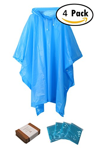 "Zoophyter ""Wind-Proof King"" 4pcs Adult Emergency Disposable Rain Poncho - India Disney Store Online"