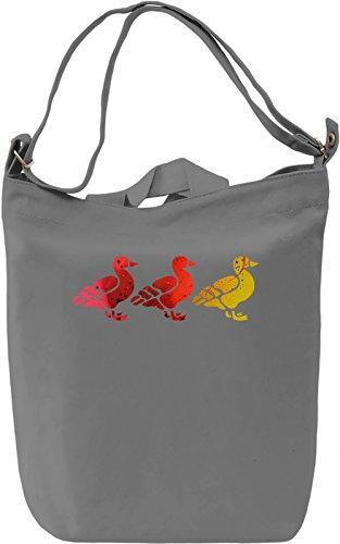 Duck Duck Gray Duck Borsa Giornaliera Canvas Canvas Day Bag  100% Premium Cotton Canvas  DTG Printing 