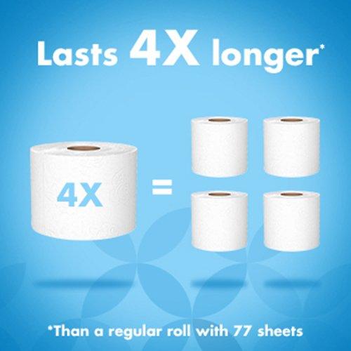 41u5MArUtcL - Amazon Brand - Presto! 308-Sheet Mega Roll Toilet Paper, Ultra-Soft, 6 Count