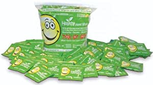 Healthy Hand Wipes - 66 All Natural and Organic Wipes Which Uses a Salt Based Antiseptic with No Alcohol or Other Harsh Chemicals